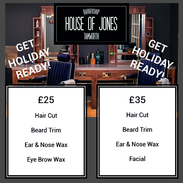 Weekend Deals on Haircuts at the Tamworth House of Jones Barbers